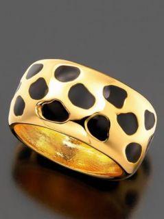 Kenneth Jay Lane Animal Leopard Print Ring Bracelet