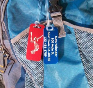 Tennis Bag Tags Custom Engraved Beautiful Gift Look