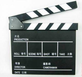 Clap Board Directors TV Movie Film Slate Cut Black 2LN