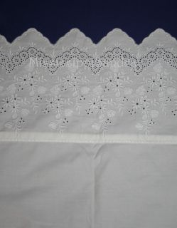 Court of Versailles Campagne Queen Sheet Set White Lace