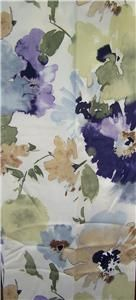 Shower Curtain Croscill Watercolor Floral Blue Purple