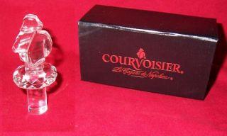 Courvoisier Cognac Clear Glass Napolean Bottle Stopper
