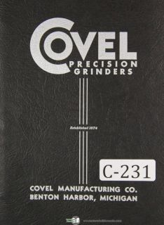 Covel Instruction Parts No 14 Optical Comparator Manual