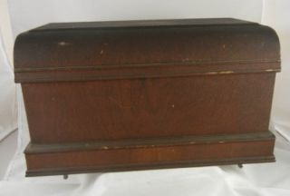 Antique Vintage Willcox Gibbs Sewing Machine Wooden Cover
