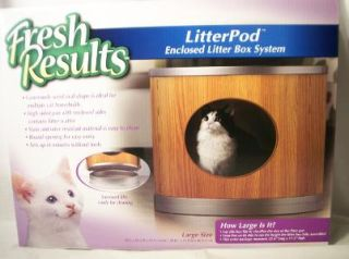 Cat Litter Box Litterbox Covered Enclosed Wood Grain Attractive NEW