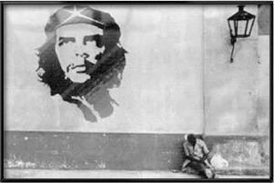 CHE GUEVARA   FRAMED POSTER (CUBAN WALL PAINTING)