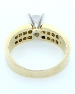 Princess vs Diamond Invisible Setting Engagement Ring Mount 14k Gold
