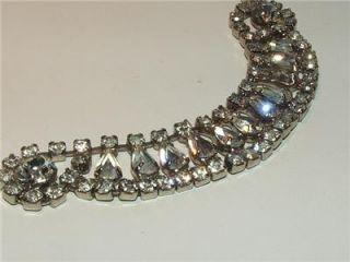 vintage signed kramer clear rhinestone necklace