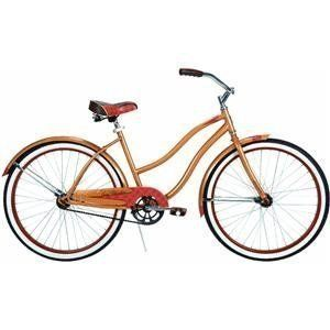26 Lady Beach Cruiser Bicycle Woman Caramel Metallic Bike