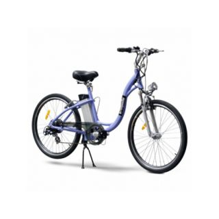 EW 800 w Deluxe Cruiser Step Through Electric Beach Bike White