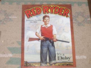 Daisy Red Ryder Americas Favorite Air Rifle Boy Gun Metal Tin Sign