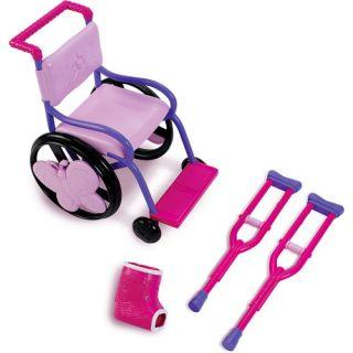 Wheel Chair set with crutches & cast doll 4 American Girl doll Mckenna