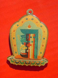 1970 H H Dalai Lama consecrated KALACHAKRA Initiation GOOD LUCK CHARM