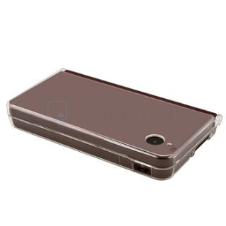 Clear Crystal Plastic Hard Clip on Case Protector for Nintendo DSi ll
