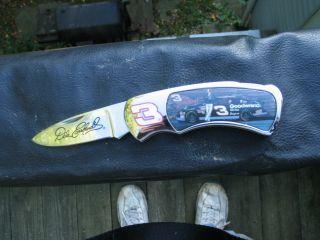 Dale Earnhardt SR NASCAR Collectible Pocket Knife Lockblade