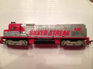 Vintage Tyco HO Scale Train Silver Streak Engine Car