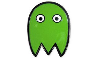 PAC MAN GHOST Belt Buckle **NEW Green