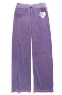 Juicy Couture Heart Crest Logo Velour Pants (Toddler & Little Girls)