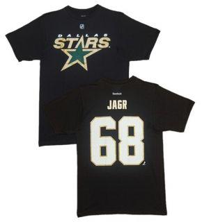 Dallas Stars Jaromir Jagr Black Name and Number T Shirt Player Jersey