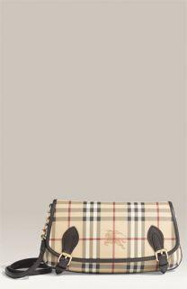 Burberry Equestrian Logo Check Print Shoulder Bag