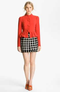 Tracy Reese Couture Cloth Peplum Jacket