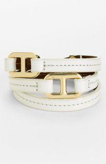 Tory Burch Plato Leather Wrap Bracelet