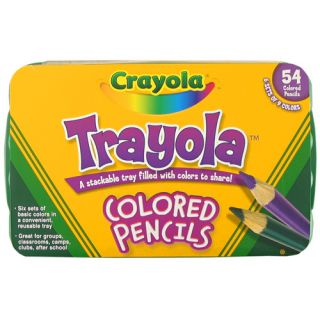 tray filled with colors to share the Crayola Colored Pencil Trayola