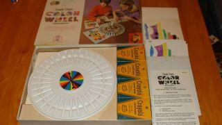 Crayola Crayon Color Wheel Drawing Game 1974 Made USA