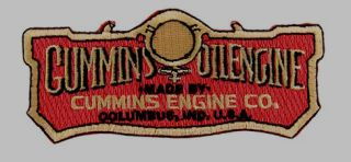 Cummins Engine Co Logo Emblem Embroidered Shirt Jacket Patch Dodge Ram