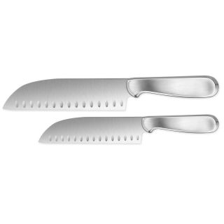 Steel Santoku Knife Set Cut Chop Slice Cooking Knives Kitchen
