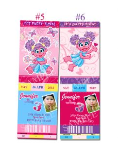 Sesame street, Elmo, Abby Cadabby Custom Birthday Party invitation
