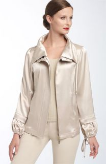 St. John Yellow Label Liquid Satin Jacket