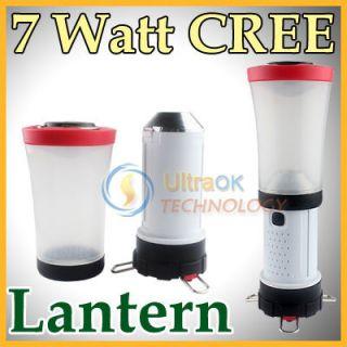 CREE Q5 LED 7W 7 Watt Adjustable Camping Lantern Torch