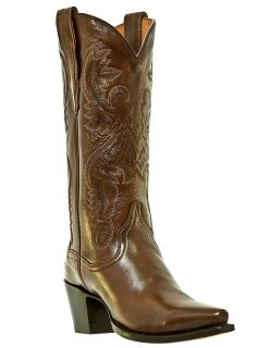 Womens Cowboy Boots Dan Post Maria Leather Medium B M Snip Toe Brown