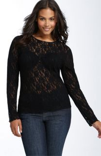 Hanky Panky Long Sleeve Lace Tee (Plus)