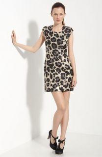 Tibi Animal Print Dress