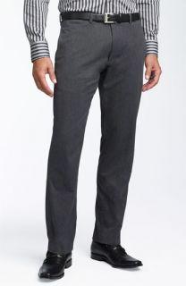 BOSS Black Keegan Flat Front Cotton Pants