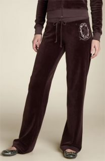 Juicy Couture Rhinestone Embellished Velour Pants