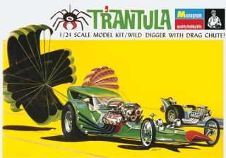 MONOGRAM TOM DANIEL TRANTULA 1 24 SCALE MODEL KIT