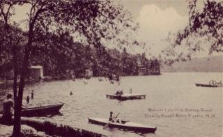 Webster Lake Park Bathing Beach Franklin NH Postcard