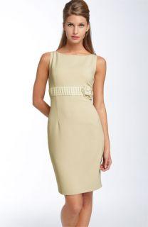 Ellen Tracy Rosette Detail Sheath Dress
