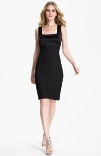 St. John Collection Bouclé & Liquid Satin Dress