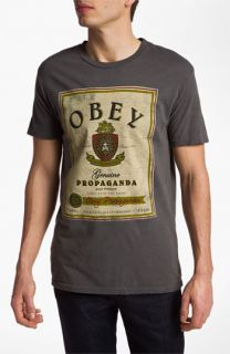 Obey Whiskey Label Graphic T Shirt