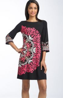 Maggy London Print Matte Jersey Shift Dress