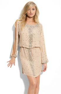 Haute Hippie Rhinestone Chiffon Dress