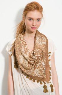Sir Alistair Rai Leopard Handkerchief Scarf