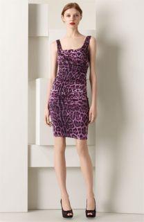 Dolce&Gabbana Leopard Print Stretch Satin Dress