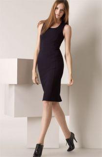 Burberry London Corset Seamed Jersey Dress