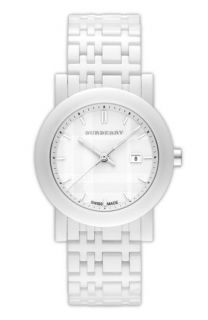 Burberry Round Ceramic Watch