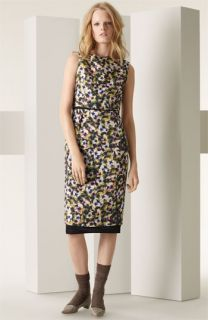 MARC JACOBS Pansy Print Matelassé Dress